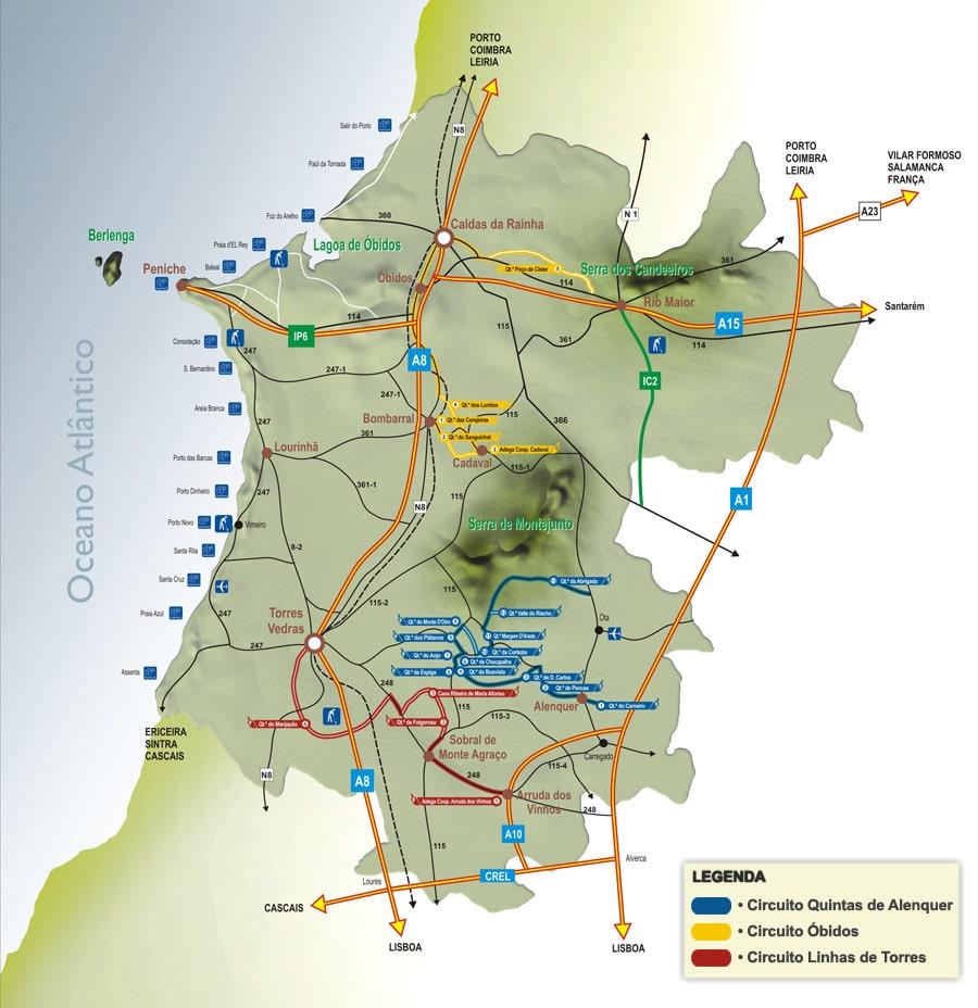 Mapa das Berlengas