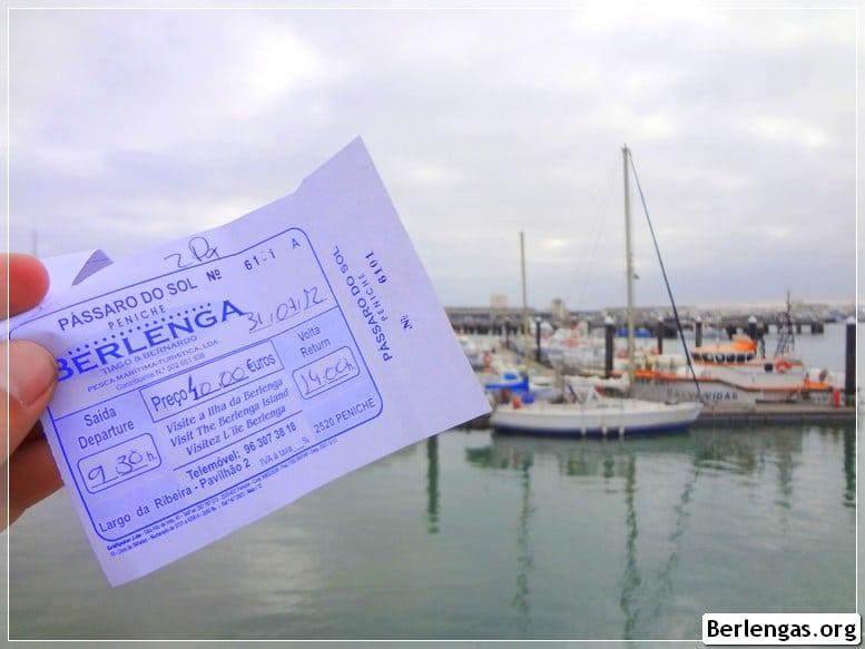 Bilhete de barco para ir às Berlengas
