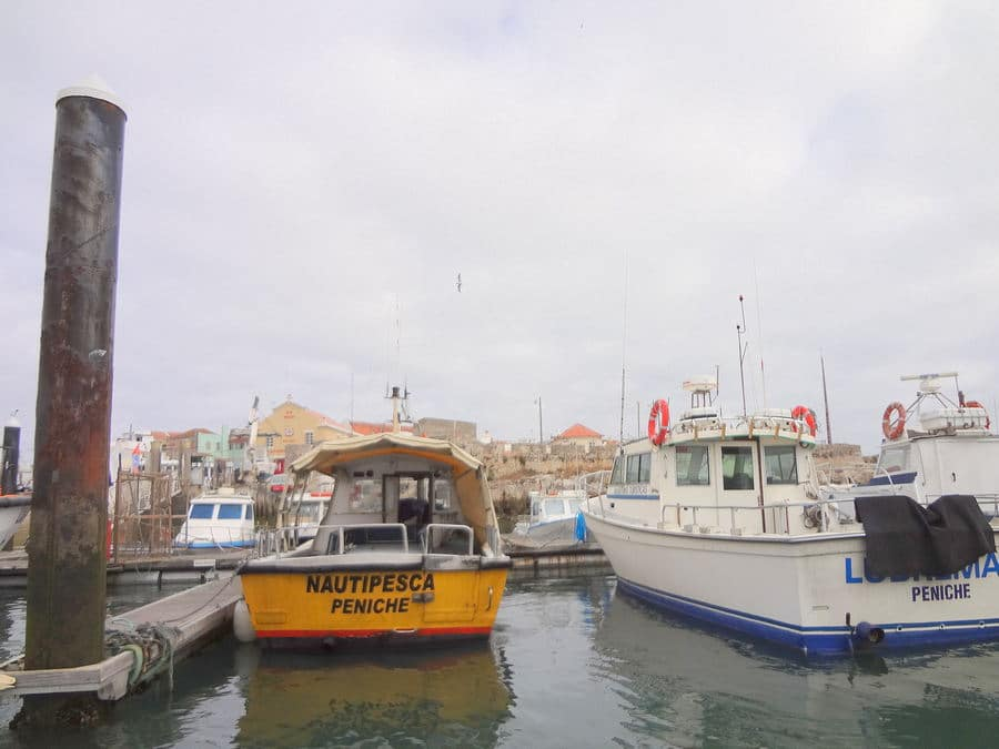 Chegada ao cais de embarque para as Berlengas