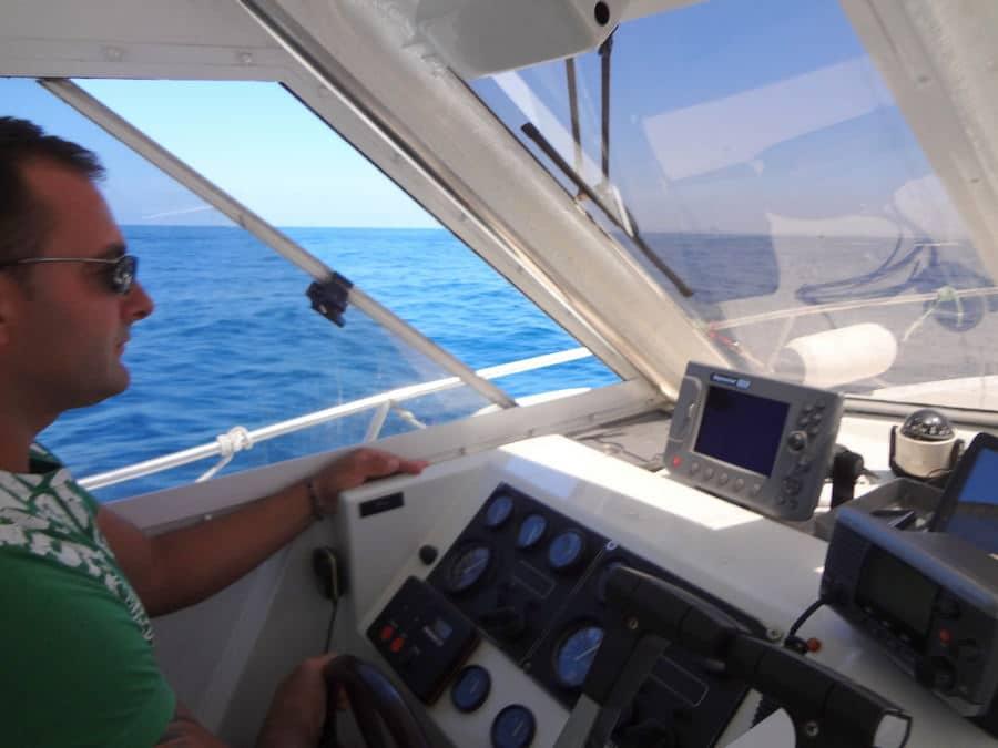 Dentro do barco para as Berlengas