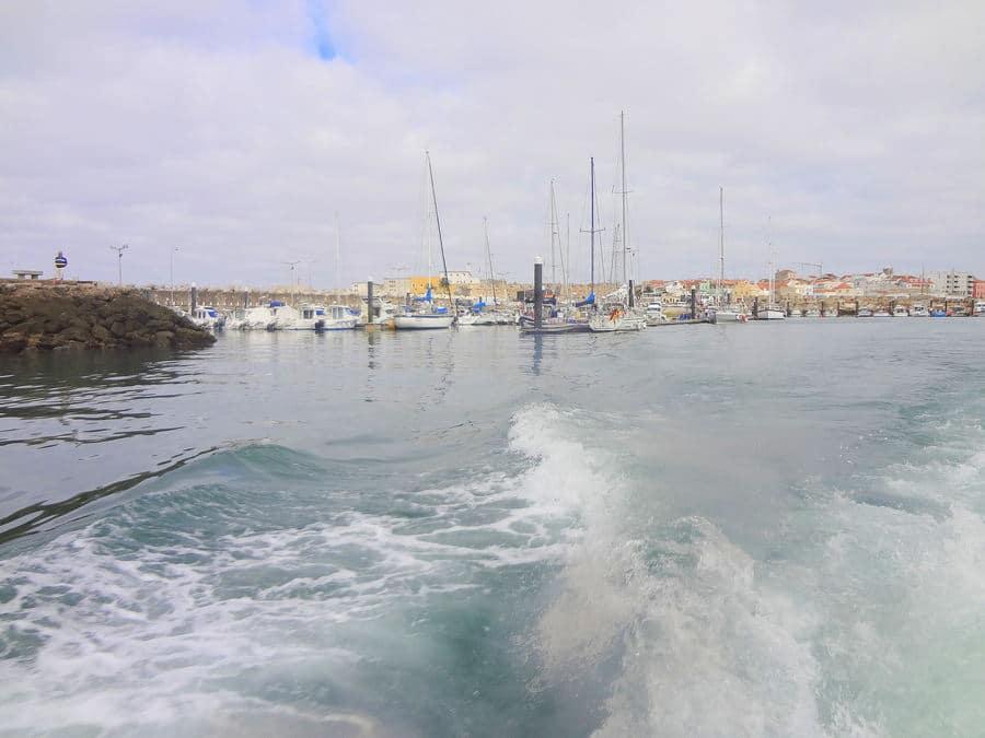 Partida do Cais Marina de Peniche