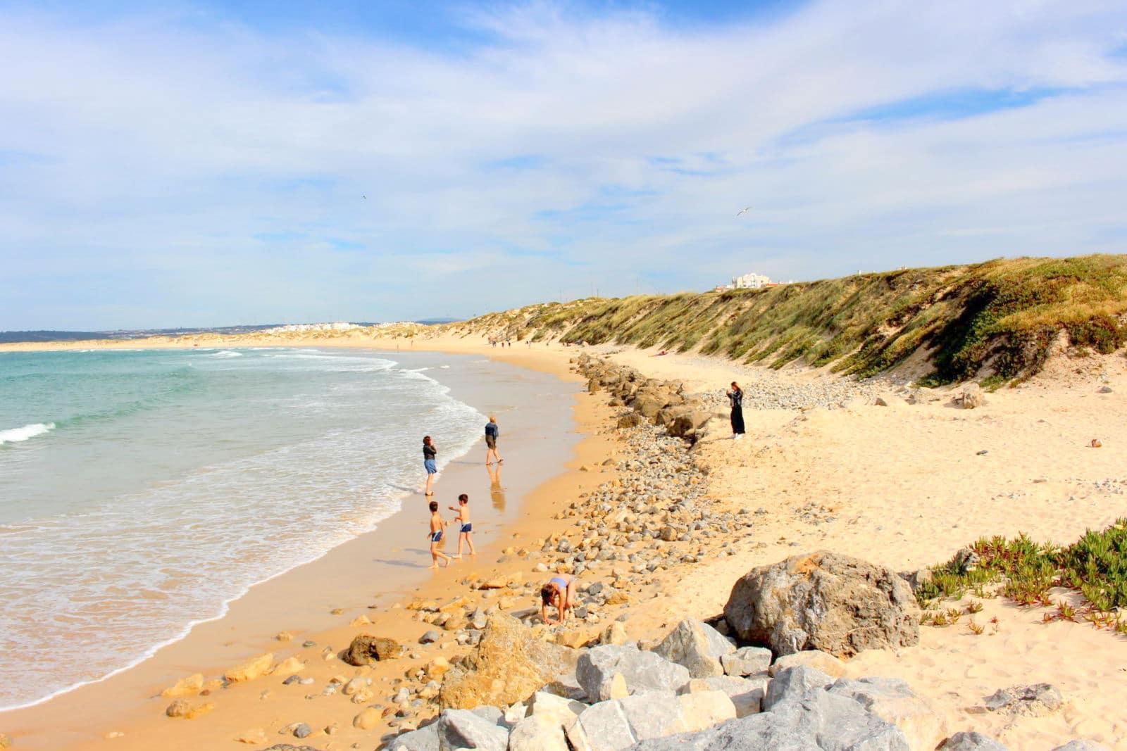 Praia de Gamboa em Peniche