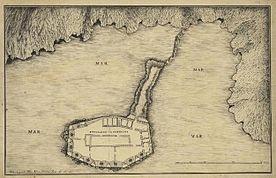 A planta do Forte de São João Baptista